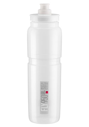 New Elite FLY Cycling Water Bottle 750 ML White Clear